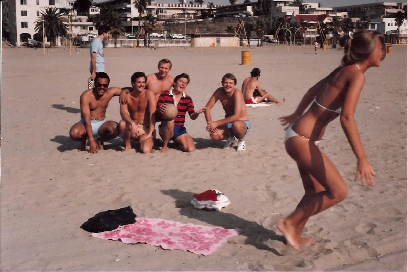 RGI classmates at Santa Monica Beach early 1980s